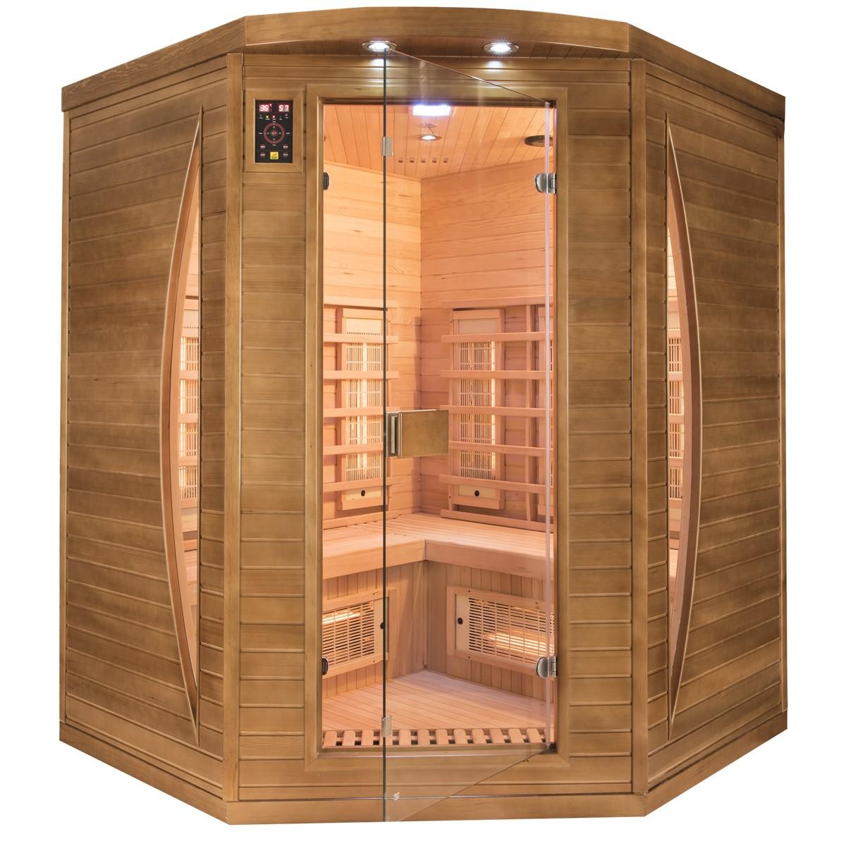 Sauna Spectra 3 places angulaire