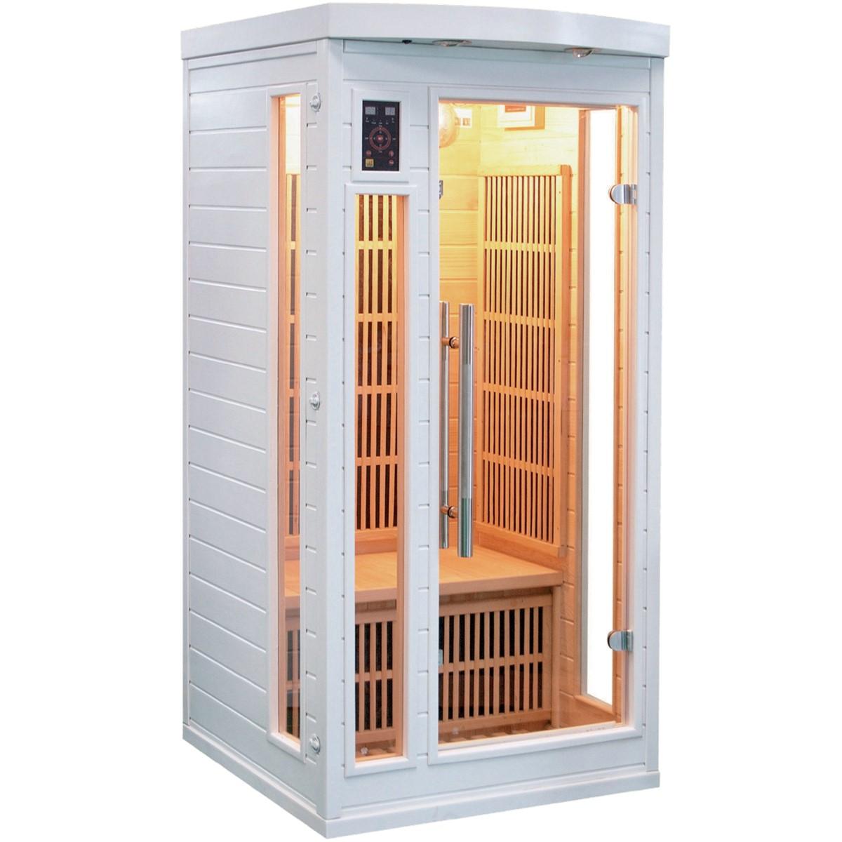 Sauna Infrarouge SOLEIL BLANC - 1 Place