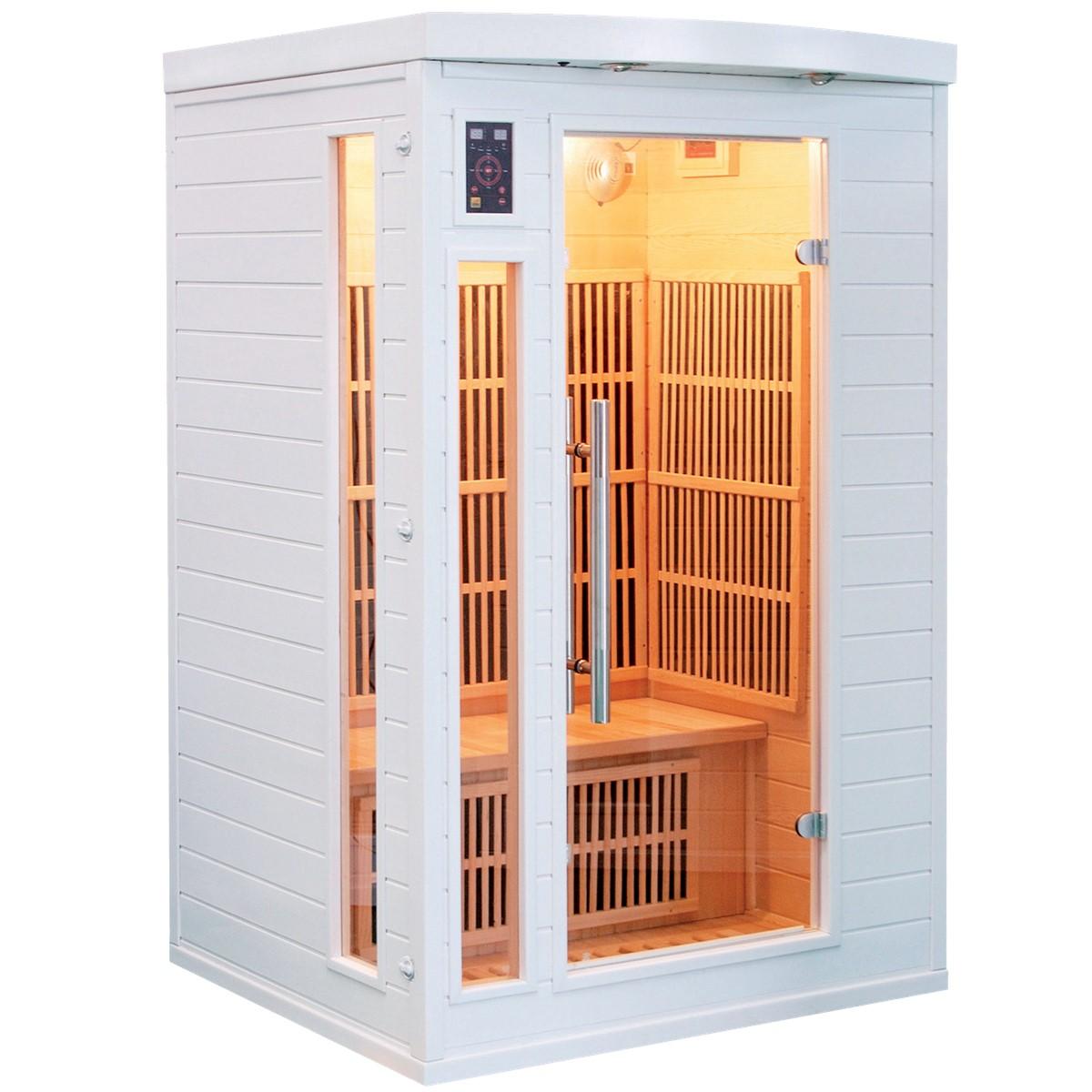 Sauna Infrarouge SOLEIL BLANC - 2 Places