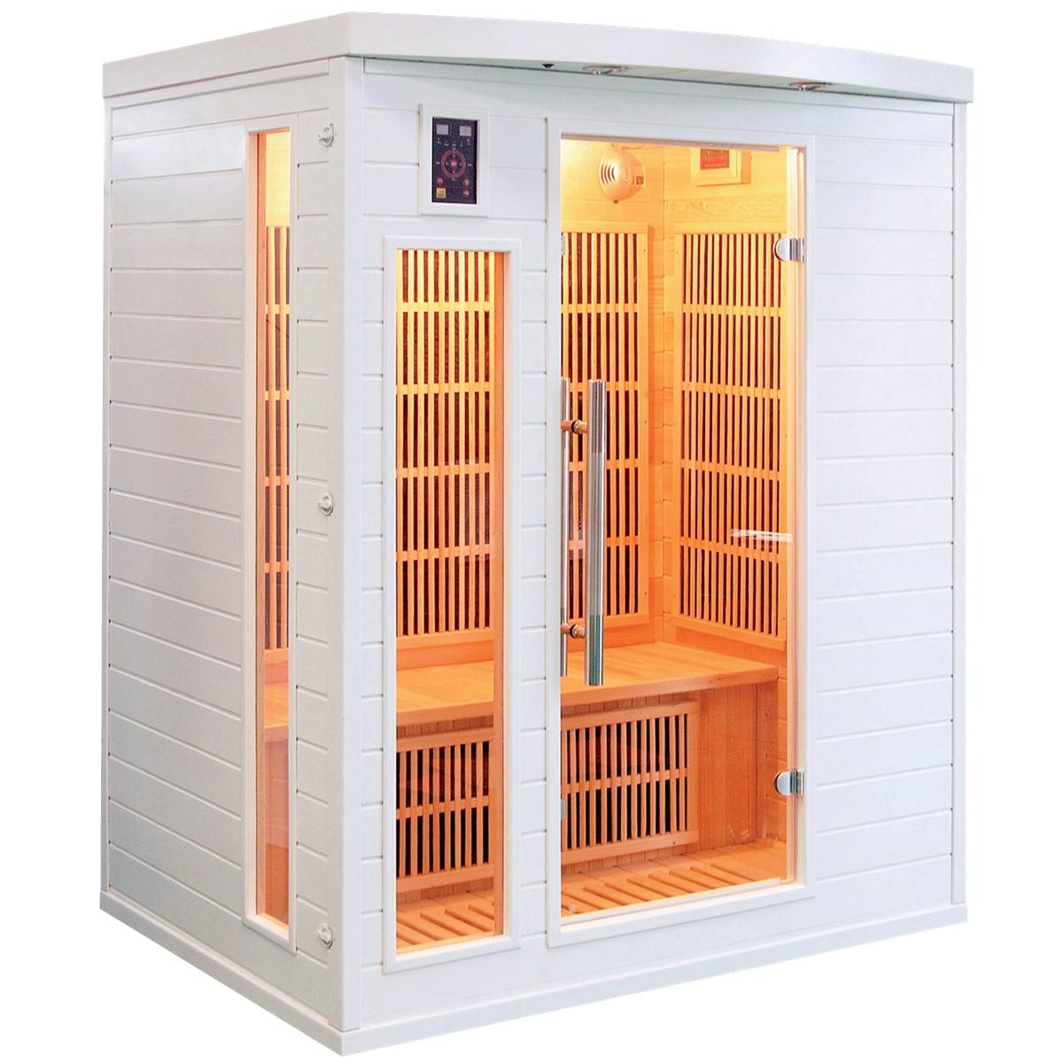Sauna Infrarouge SOLEIL BLANC - 3 Places