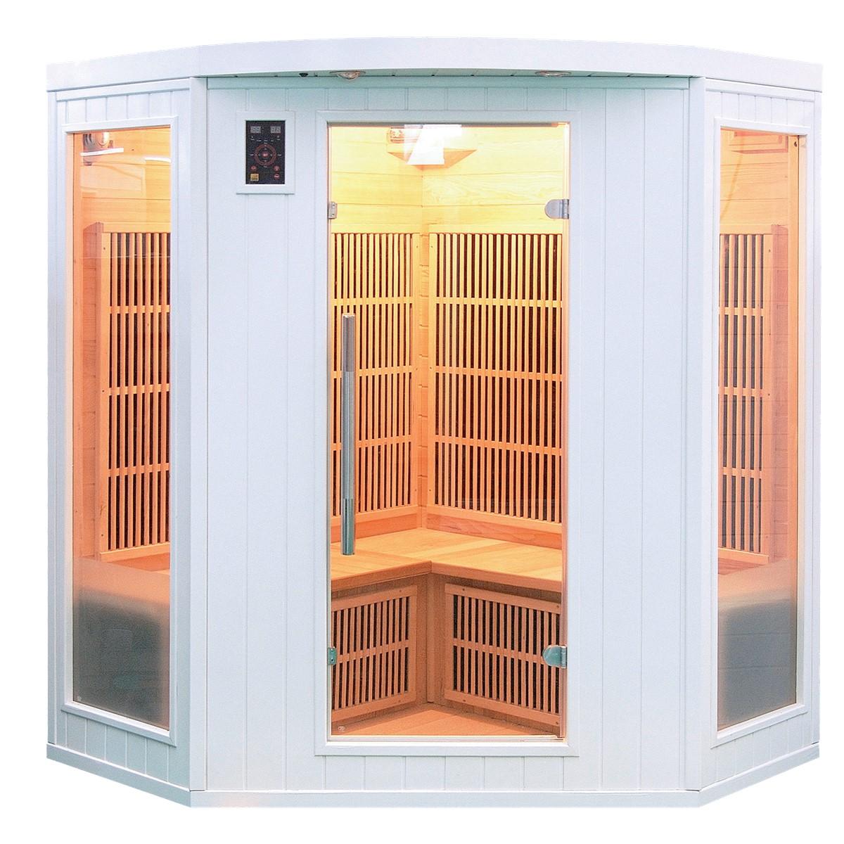 Sauna Infrarouge SOLEIL BLANC - 3/4 Places